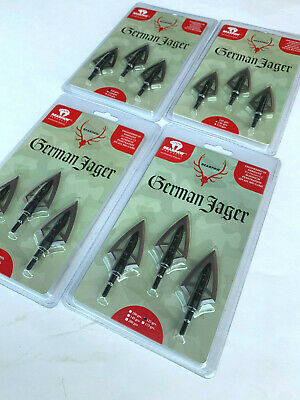 1 package Bearpaw archery German Jager fixed 2 blade hunting broadhead 145 grain