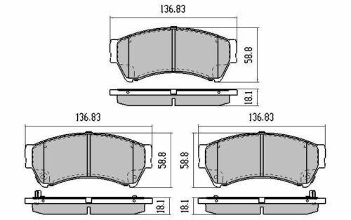 FRONT BRAKE ROTORS PADS for Mazda 6 GH 2.0L GLX Sedan /& Wagon 3//2008-11//2012