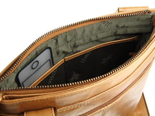 Visconti Tablet amichevole Veg Tan Buffalo Leather Spalla Borsa Tracolla-ml25