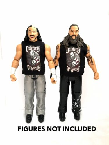 WWE Matt Hardy BRAY WYATT /'deleters DI MONDI/'s custom shirt PER Mattel figure.