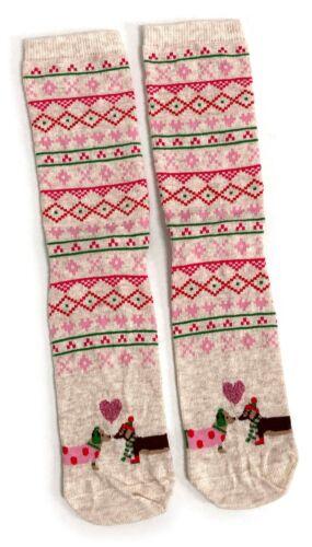 Ladies Christmas Dachshunds Love Sausage Dog Socks 4-8 UK / 37-42 Eur / 6-10 US