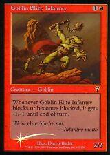 Goblin Elite Infantry FOIL   EX   7th   Magic MTG