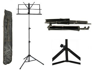 New-Adjustable-25-034-55-034-Folding-Sheet-Music-Sheet-Stand-FREE-Carrying-Gig-Bag