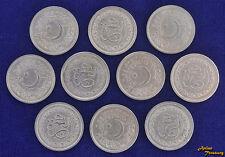 PAKISTAN 1 RUPEE 1981 WHOLESALE LOT OF 10 COIN 1400th HEJIRA KM#55 COIN UNC