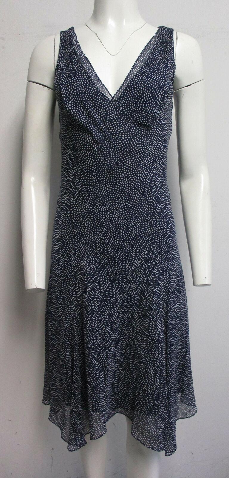 DIANE VON FURSTENBERG Dita 100% silk navy blue & … - image 2