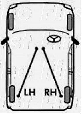 FKB1749 FIRST LINE BRAKE CABLE LEFT REAR fits Isuzu Trooper 3.1 LWB 92
