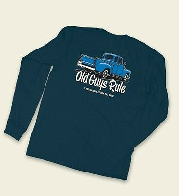 """OLD GUYS RULE """" IT TOOK DECADES TO LOOK THIS GOOD """" OLD BLUE TRUCK LONGSLEEVE M"""