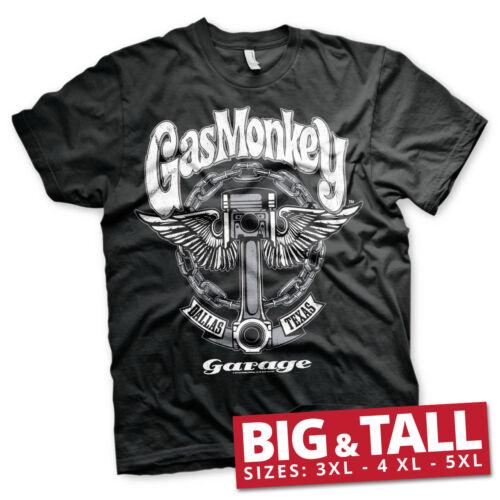 Officially Licensed Gas Monkey Garage Big Piston 3XL,4XL,5XL Men/'s T-Shirt
