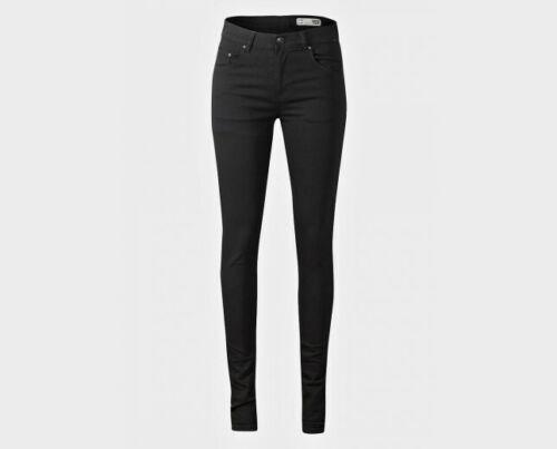 Ladies Black 5-Pocket Design High Wasted Skinny Fit Jeans New Size 12 14