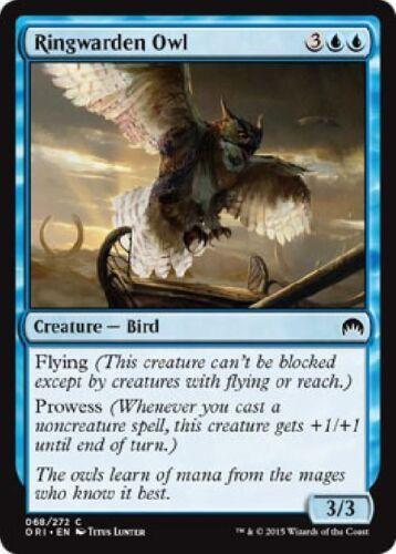 MTG Magic Origins 4x 4 x Ringwarden Owl x4  ~ MINT ~ UNPLAYED Common M16