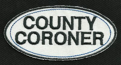 COUNTY CORONER Name Tag Motorcycle Biker Patch