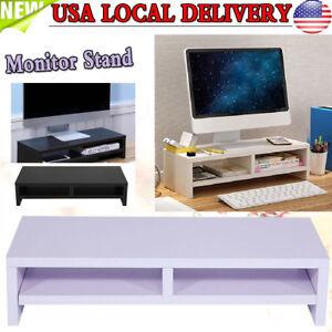 Pc Computer Desktop Monitor Stand Laptop Tv Display Screen Riser
