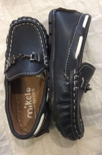 Boy Shoes New in Box by Mikelo Spanish Style Boys Navy Loafers EU25 to EU30