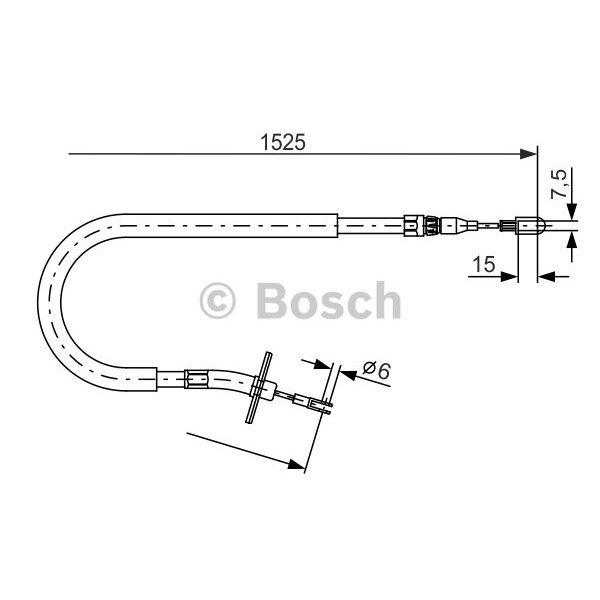BOSCH Handbremsseil Feststellbremse Mercedes Sprinter VW LT - 1 987 477 858