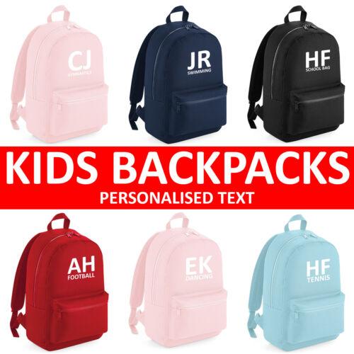 Boys Girls Personalised Football Gymnastics Dance Swimming School Backpack Bag