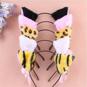 Cosplay Party Cat Long Fur Ears Neko Costume Hair Clip Halloween Orecchiette A