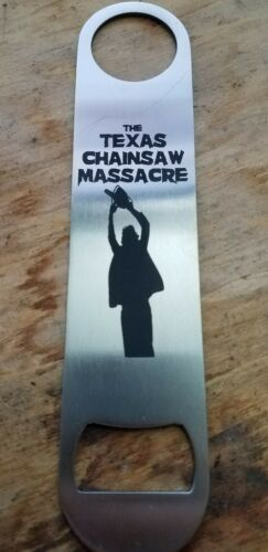 The Texas chainsaw massacre stainless steel bottle opener//church key