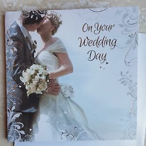 Wedding Day Card Beautifully Embossed