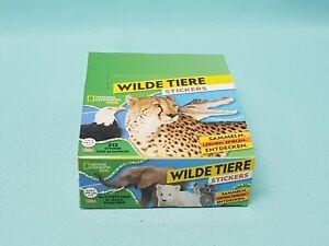 National-Geographic-Topps-Wilde-Tiere-Animals-Sticker-1-x-Display-30-Tuten