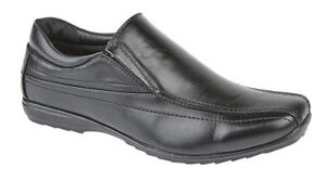 Shoes Work Casual 11 Low Youths Men Twin 7 Gusset 9 Black 12 10 School Profile Size 8 8YpWfwq