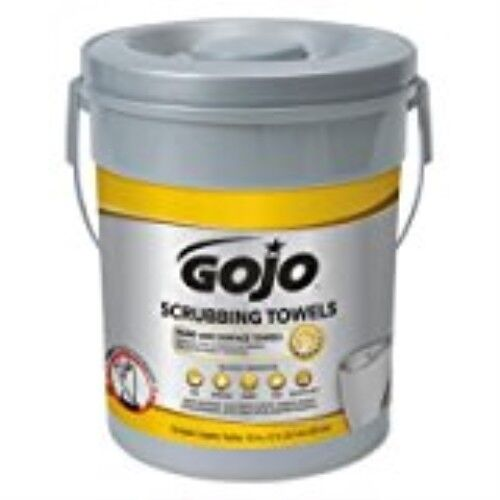 Gojo Industries Dual Textured Scrubbing Wipes Canister 72 Wipes 1 //Pack 639606