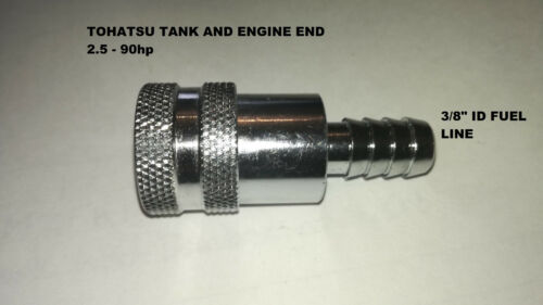 TOHATSU OUTBOARD ENGINE FUEL CONNECTOR.ENGINE END  2.5-90hp