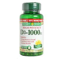 Nature Bounty Vitamin D3 1000iu Softgel 120ct