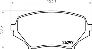 Textar Bremsbelagsatz VA Br passend für Mazda MX-5 1,8//2,0 2429701 Nr