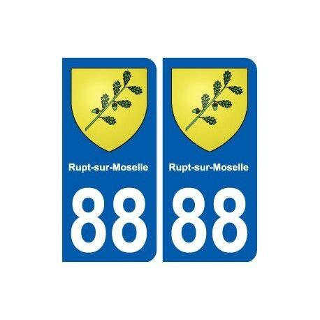 88 Rupt-sur-Moselle blason autocollant plaque stickers ville droits