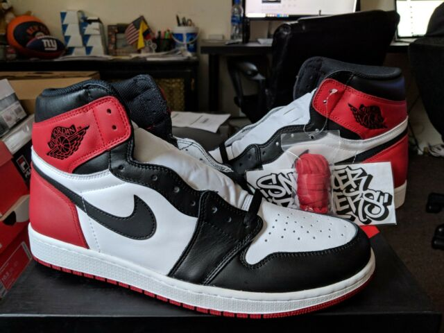 various styles various colors new high quality Nike Air Jordan 1 Retro High OG Black Toe 2016 Size US 10.5