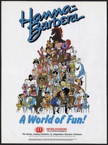 HANNA-BARBERA-A-World-of-Fun-Original-1989-Trade-print-AD-promo-advert