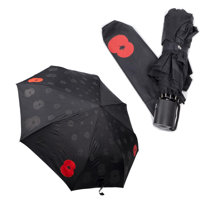 Poppy Umbrella - AUTO OPEN CLOSE UMBRELLA COMPACT Wind Proof - NEW