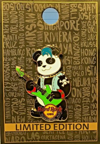 Hard Rock Cafe Washington D.C. Panda Band Series # 3 Bobblehead 2016 Pin LE NEW