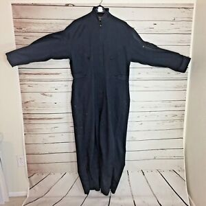 Duluth-Mens-Size-Large-Gray-Cotton-Coveralls-Vintage-B490