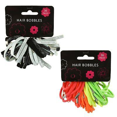 40 Girls Elastics Hair Bobbles Bands Thick Coloured Ponios Bow Accessories
