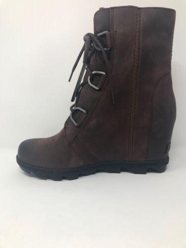 New Sorel Womens Joan of Arctic Wedge ll Leather Boot Waterproof Rain Cattail