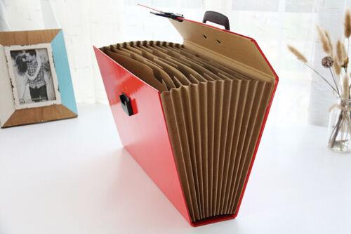 Expanding A4 Box File Organiser Paper Documents Foolscap Folder Case 19 Pocket