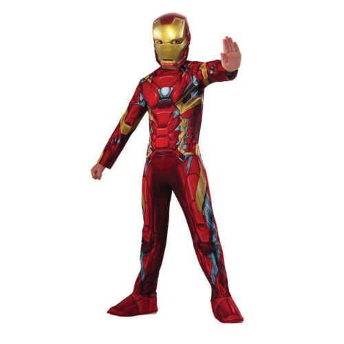 RUBIE/'S Marvel Civil War Iron Man Costume Halloween Taille large 8-10