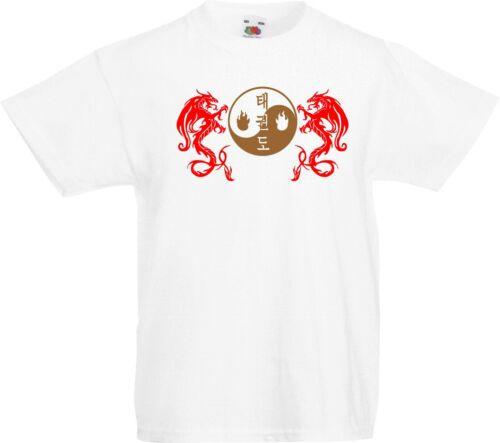 Taekwondo TKD Kid/'s Yin Yang Dragon Martial Arts T-Shirt