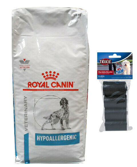 14kg Royal Canin Hypoallergenic Veterinary Diet cibo per cani  80 PZ. kotbeutel
