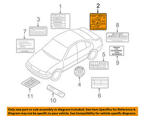 Details about NISSAN OEM 03-06 Altima Labels-Vacuum Hose Diagram 223043Z020