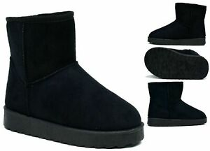 LADIES-NEW-WINTER-WARM-BOOT-PULL-ON-ELASTIC-GRIP-SOLE-SHOE