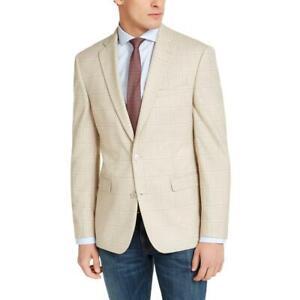 Bar III Mens Window Pane Slim Fit Suit Separate Sportcoat Blazer BHFO 5889