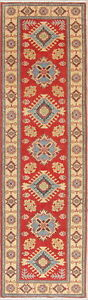 Kazak Oriental Geometric Runner Rug New Hand-Knotted Wool 3x10 Pakistani Carpet
