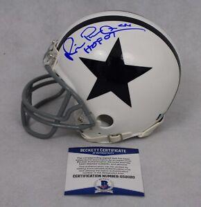 ad7f0c6b31e Michael Irvin Signed Dallas Cowboys Mini Helmet 3 5/8 Beckett COA ...