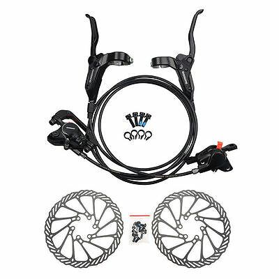 Shimano MT200 MTB Bicycle Hydraulic Disc Set Brake Front /& Rear Black W//o G3//HS1