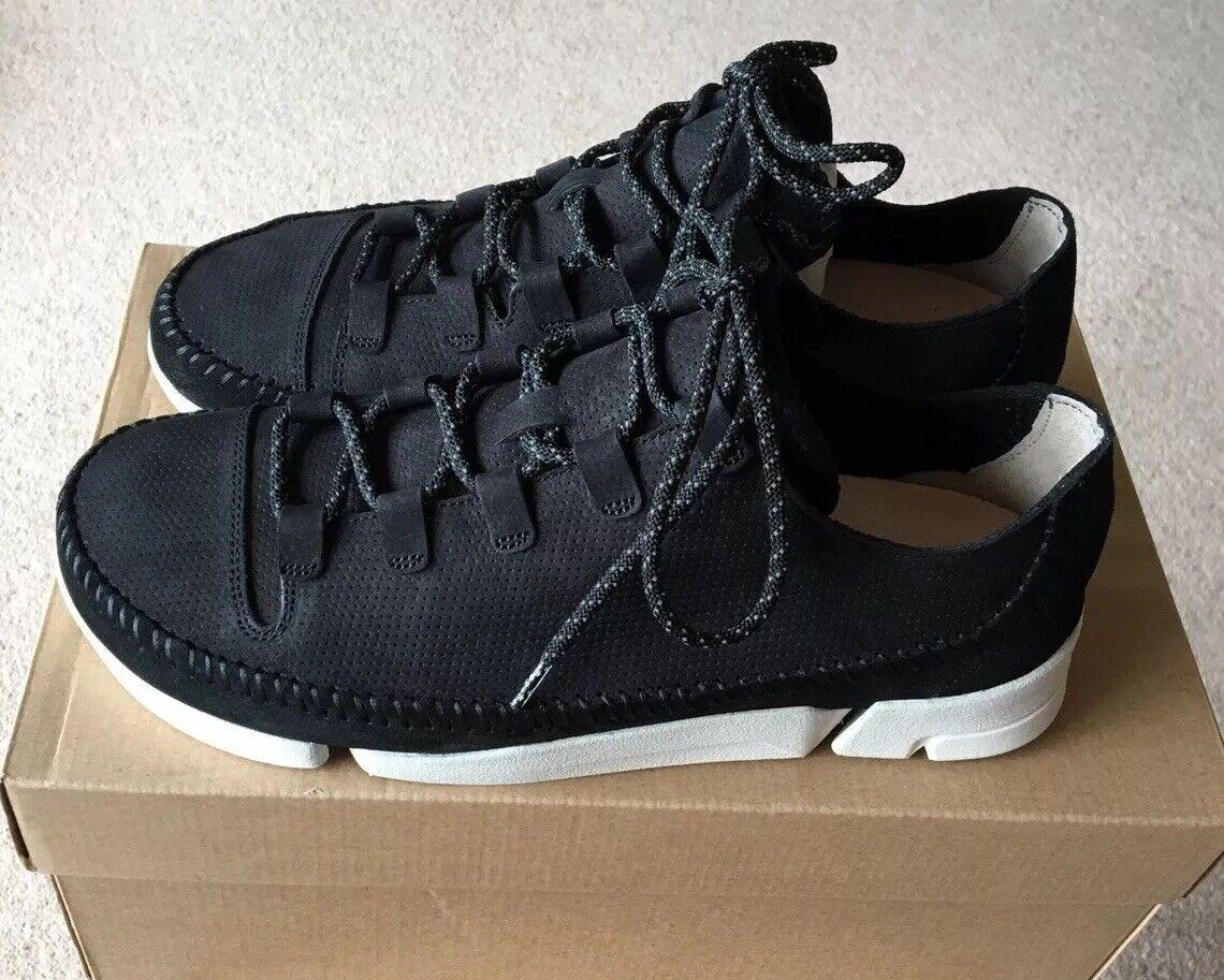 Clarks Trigenicflex 2 Homme Chaussures-en nubuck Noir-Décontracté Lace UPS-UK 9