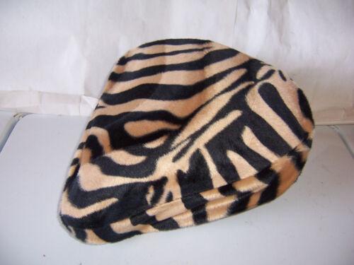 NEW BEACH CRUISER BIKE SEAT COVER BROWN BEIGE ZEBRA SOFT FUR !