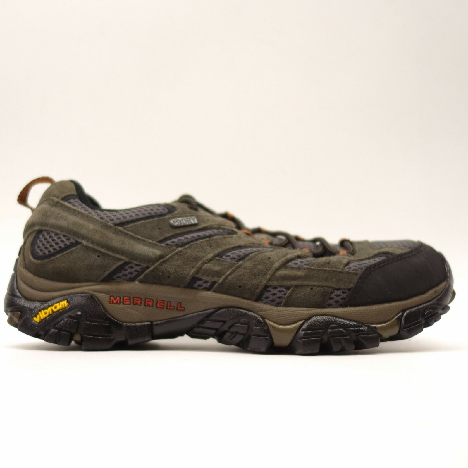 80632fe4ed Merrell Mens Moab 2 Low Waterproof Athletic Support Hiking Trail shoes Size  9.5. Nike React Element 55 Olive ...
