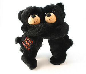 Hugging-Black-Bears-Alaska-Souvenir-21cm-Plush-Stuffed-Animal-Wishpets-Hugs